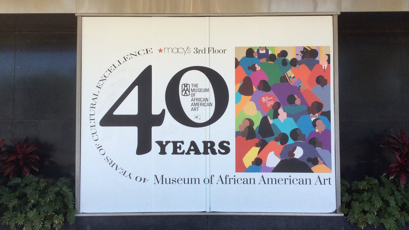 "The Museum of African American Art in Los Angeles is a ""micro museum"" tucked away on the third floor of a Macy's in the city's Crenshaw district. The museum has been closed since March 2020."