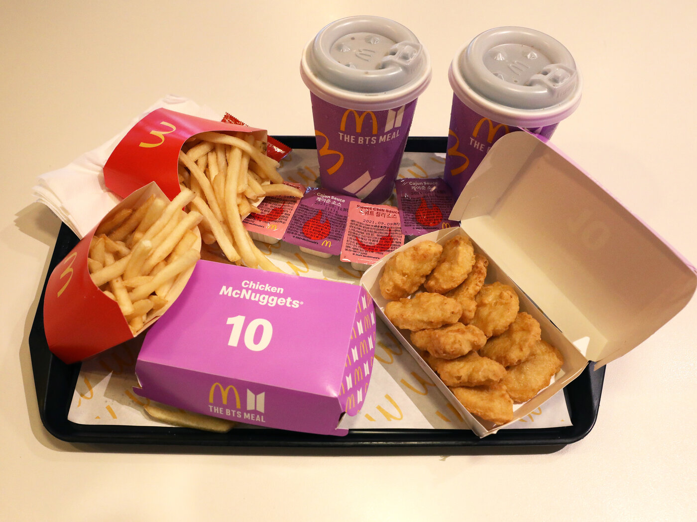 McDonald's BTS meal shown in Seoul, South Korea.